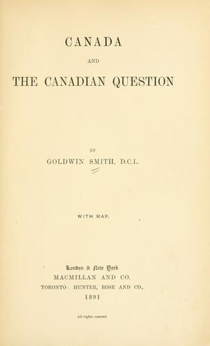 Canada and the Canadian question …