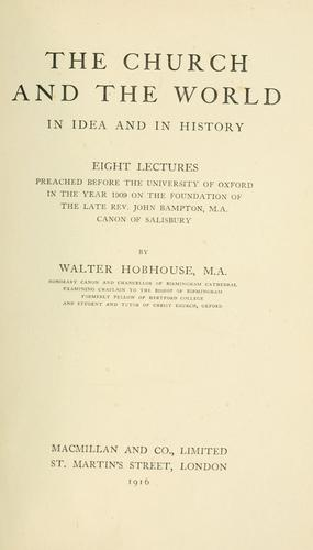 Download The church and the world in idea and in history