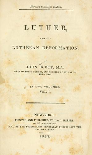 Download Luther and the Lutheran reformation
