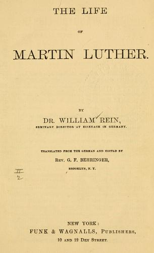 Download The life of Martin Luther.