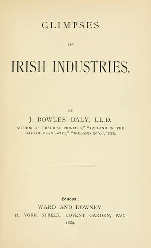 Glimpses of Irish industries