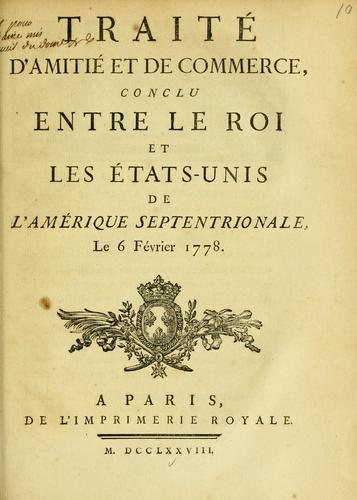Download Traité d'amitié et de commerce