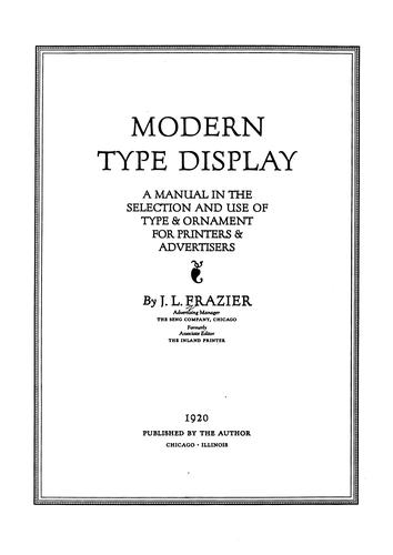Download Modern type display