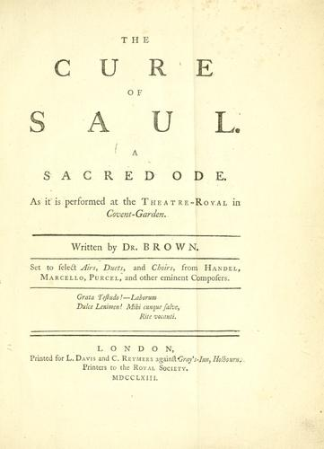 Download The cure of Saul