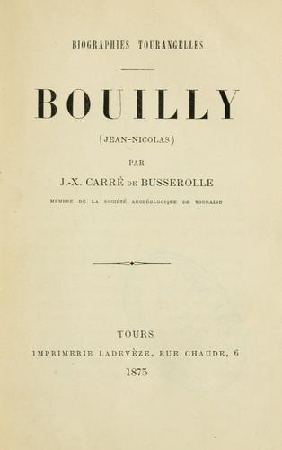 Bouilly, Jean-Nicolas.