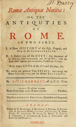 Download Romae antiquae notitia, or, The antiquities of Rome