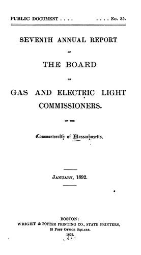 Annual Report of the Board of Gas and Electric Light Commissioners of the Commonwealth of …