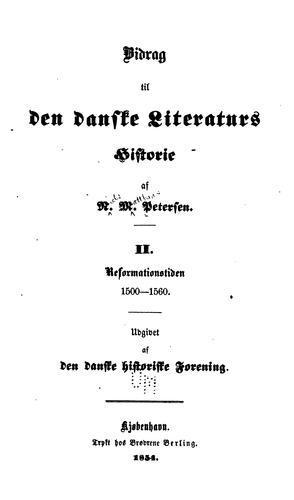 Bidrag til den danske literaturs historie …