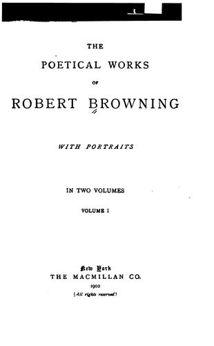 Download The Poetical Works of Robert Browning