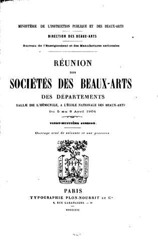 Réunion des sociétés des beaux-arts des départements …