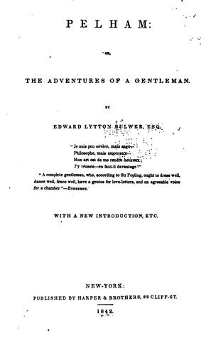 Download Pelham: Or, The Adventures of a Gentleman