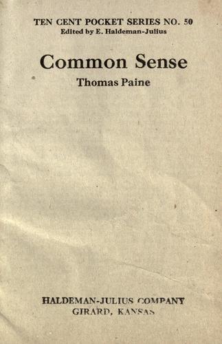 common sense thomas paine. Common Sense by Thomas Paine