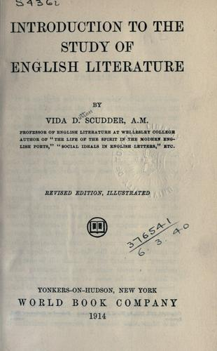 Introduction to the study of English literature.