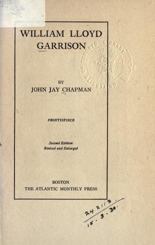 William Lloyd Garrison.