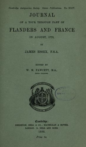 Journal of a tour through part of Flanders and France in August, 1773