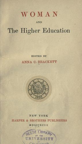 Download Woman and the higher education