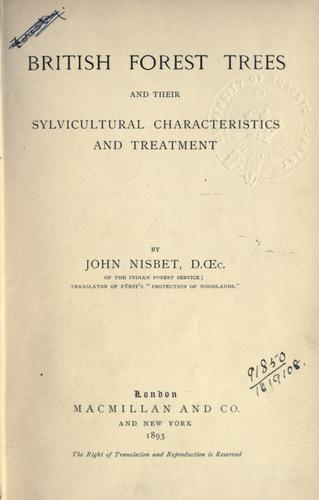 Download British forest trees and their sylvicultural characteristics and treatment.