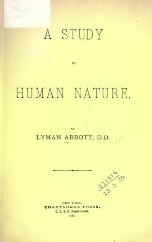 Download A study in human nature.
