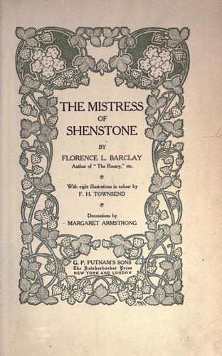 The Mistress of Shenstone