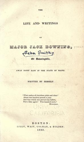 Download The life and writings of Major Jack Downing of Downingville