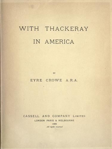 Download With Thackeray in America