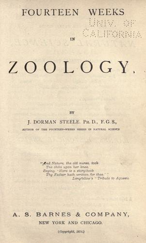 Fourteen weeks in zoology
