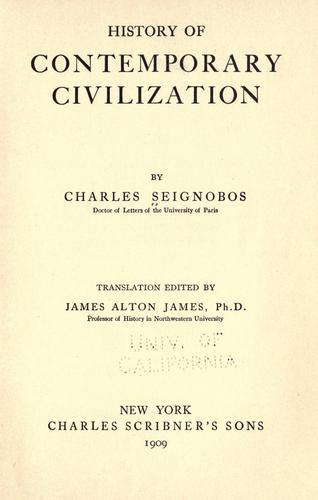 Download History of contemporary civilization