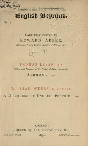 Sermons, 1550.