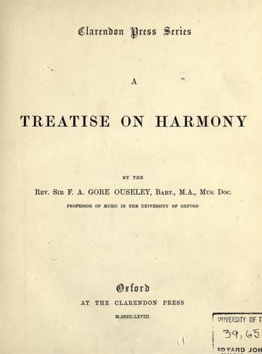 A treatise on harmony