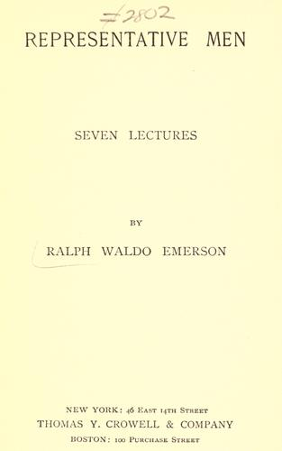 Download Representative men; seven lectures.