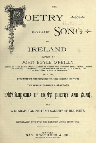 Download The poetry and song of Ireland.