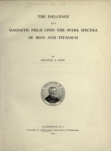 Download The influence of a magnetic field upon the spark spectra of iron and titanium