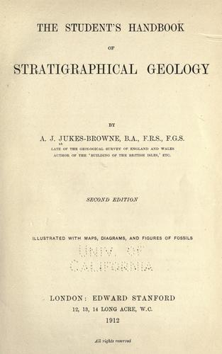 Download The student's handbook of stratigraphical geology
