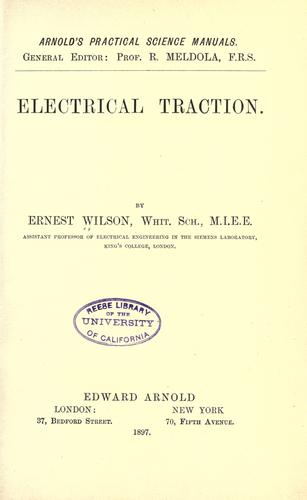 Download Electrical traction.