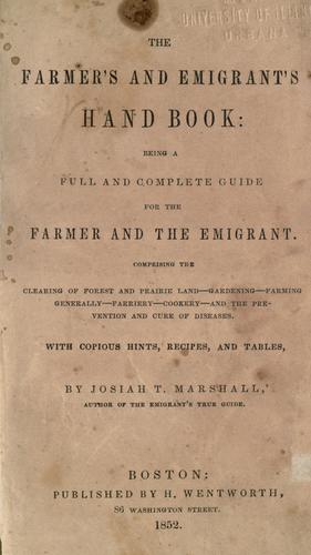 The farmer's and emigrant's hand book