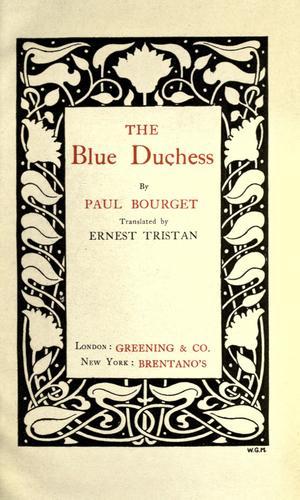 The blue duchess.