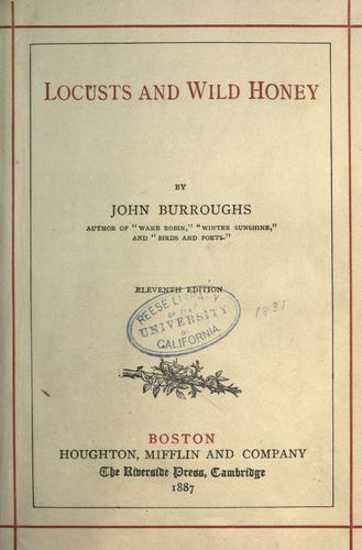 Locusts and wild honey (Open Library)