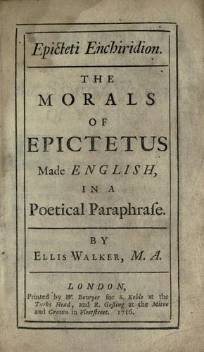 Epicteti Enchiridion.