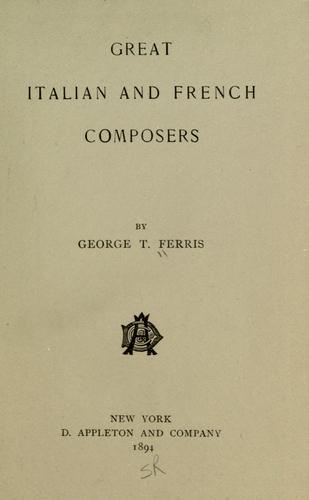 Download The great Italian and French composers.