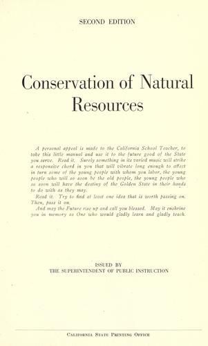 Download Conservation of natural resources.