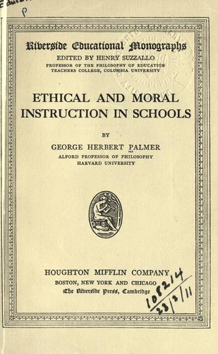 Download Ethical and moral instruction in schools.