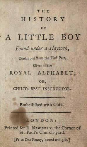 Download The history of a little boy found under a haycock