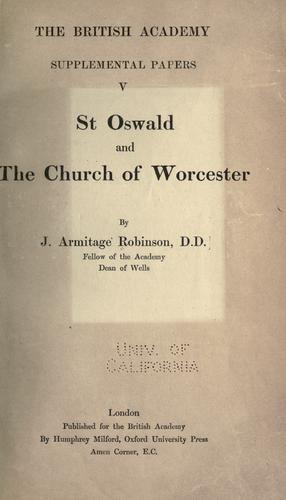 St. Oswald and the church of Worcester
