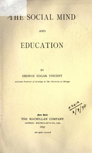 The social mind and education.