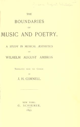 The boundaries of music and poetry.