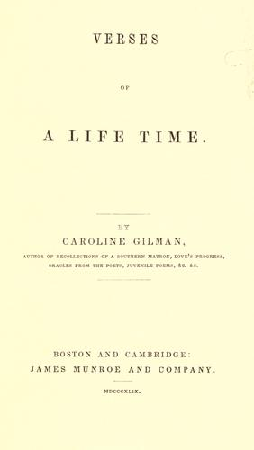 Verses of a life time