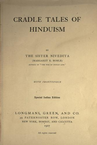 Download Cradle tales of Hinduism