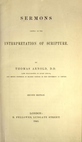 Download Sermons, chiefly on the interpretation of Scripture
