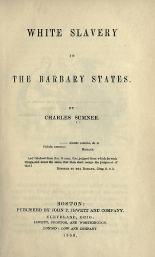White slavery in the Barbary states