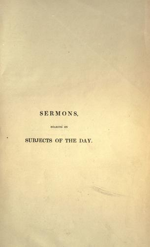 Download Sermons, bearing on subjects of the day